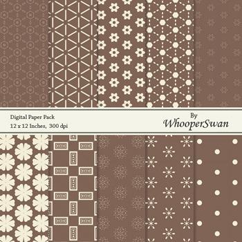 Digital Paper - Chocolate