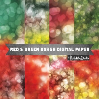 Digital Paper - Christmas Bokeh