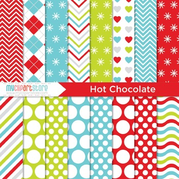 Digital Paper - Christmas / Hot Chocolate
