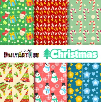 Digital Paper - Christmas great for Classroom art projects