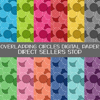 Digital Paper Circles Overlapping Background in Multi Color Clip Art
