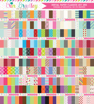 Digital Paper Classics Bundle Set One - 50 Sets