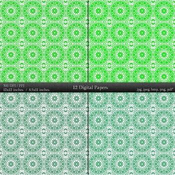 Digital Paper Clip Art Printable Style Jpeg Card A4 Kit Supplie Damascus Layout