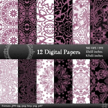 Digital Paper Clipart Cover A4 Seamless Premade Scrapbooking  Decoration Corner