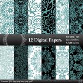 Digital Paper Clipart Pack  Decoration Scrapbook Embellish