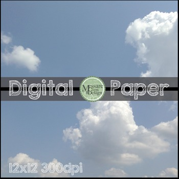 Digital Paper Cloud Pattern Background Texture {Messare Clips and Design}