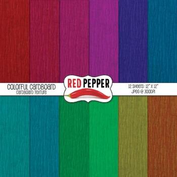 Digital Paper - Colorful Cardboard