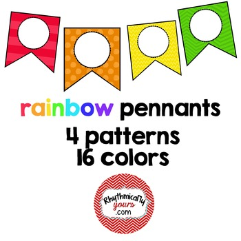 Digital Paper ~ Colorful Pennants