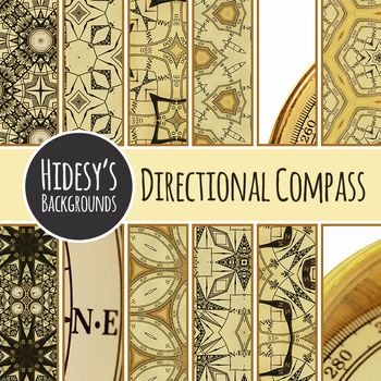 Digital Paper Compass / Direction / Map Theme Backgrounds  or Patterns Clip Art