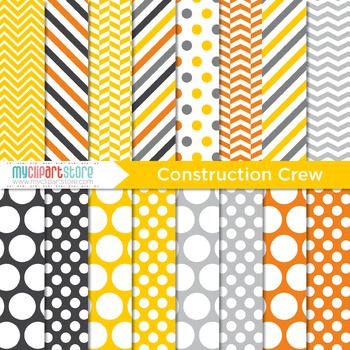 Digital Paper - Construction Crew