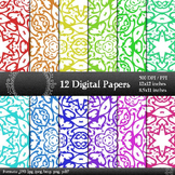 Digital Paper Corner Jpeg Album Graphics Background Seamle