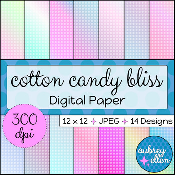 Digital Paper | Cotton Candy Bliss