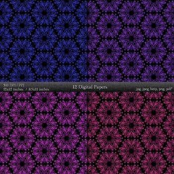 Digital Paper Cover Journal Sheet  12 X 12 + 8.5 X 11 Pattern Template Page Art