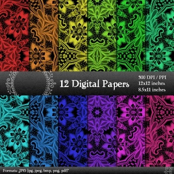 Digital Paper Cover Seamless  Decoration Piecing Embellishment Page Abstract A4