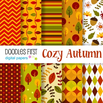 Digital Paper - Cozy Autumn great for Classroom art projects