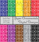 Digital Paper: Crayon Box Designs Set 1