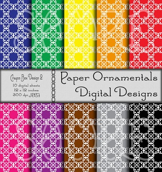 Digital Paper: Crayon Box Designs Set 2