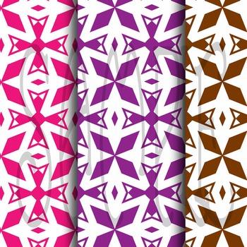 Digital Paper: Crayon Box Designs Set 3