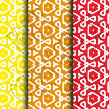 Digital Paper: Crayon Box Designs Set 8