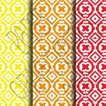 Digital Paper: Crayon Box Designs Set 9