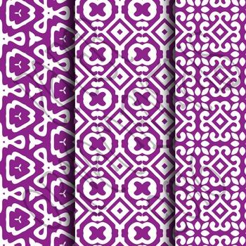 Digital Paper: Crayon Box Purple Set 1
