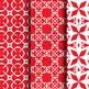 Digital Paper: Crayon Box Red Set 1