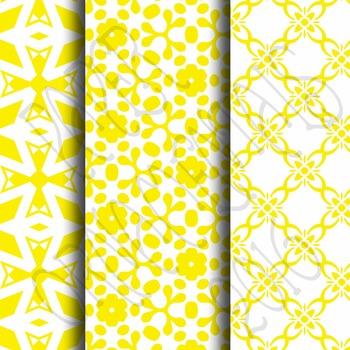 Digital Paper: Crayon Box Yellow Set 1