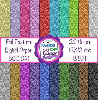 Digital Paper Foil Texture: Scrapbook (12 X12) & Letter (8.5X11)