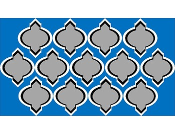 Digital Paper - Dark Blue & Gray Moroccan