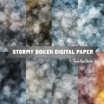 Digital Paper - Dark Bokeh