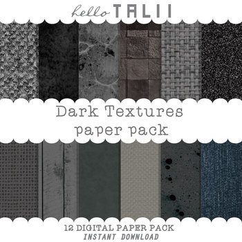 Digital Paper: Dark Textures
