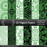 Digital Paper  Decoration Lace Fabric Album Paper Digital