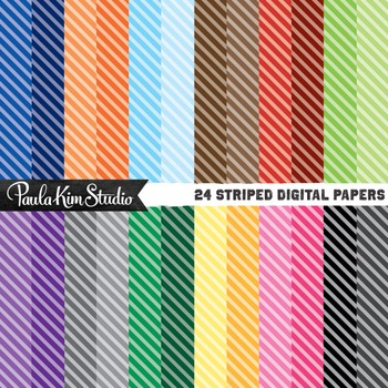 Digital Paper - Diagonal Stripes