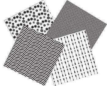 Digital Paper / Digital Background - Black & White