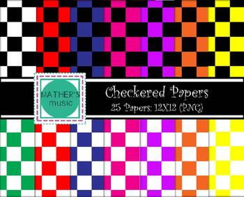 Digital Paper / Digital Background - Checkered