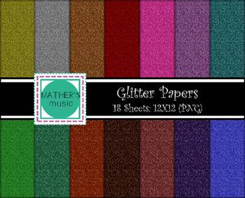 Digital Paper / Digital Background - Glitter