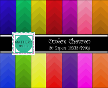 Digital Paper Digital Background Ombre Chevron By Mather S Music