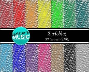 Digital Paper / Digital Background - Scribbles