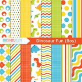 Digital Paper - Dinosaur Fun (boy)