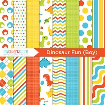 Digital Paper - Dinosaur Fun (boy)