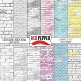 Digital Paper / Patterns - Distressed Brick Wall