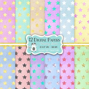 Digital Paper – Dreamy Stars