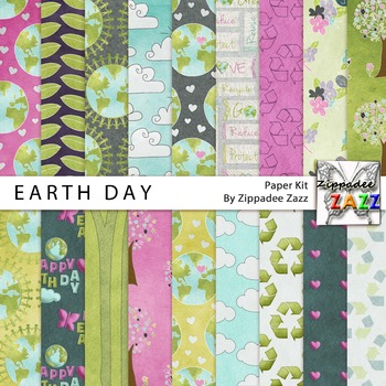 Earth Day Paper or Backgrounds