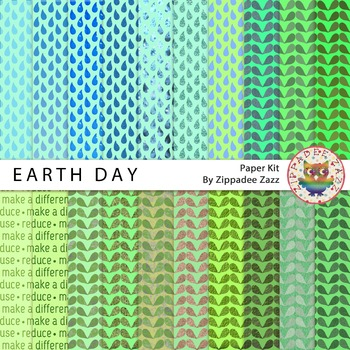 Digital Paper - Earth Day - 20 papers