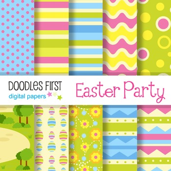 Digital Paper - Easter Party great for Classroom art projects