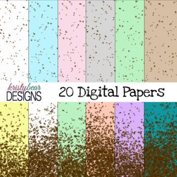 Digital Paper - Easter Speckled Egg {20 Papers}