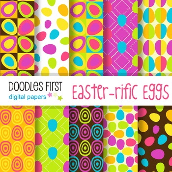 Digital Paper - Easter-rific Eggs great for Classroom art projects