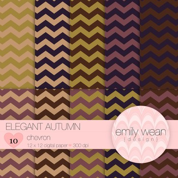 Elegant Autumn - Digital Paper - Chevron