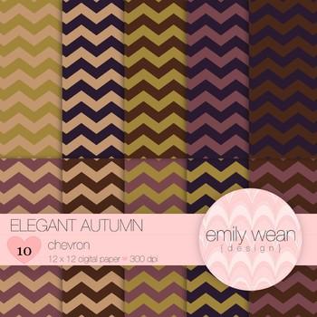 Elegant Autumn - Digital Paper - Chevron