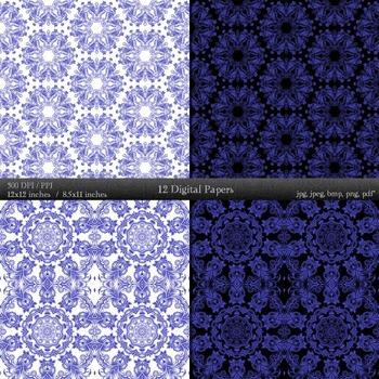 Digital Paper Embellishment Art Scrap Book Paper Floral  Decoration Template A4